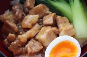 絶品ルーロー飯! 豚の角煮かけご飯
