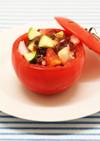 和風ジュレのトマトカップサラダ