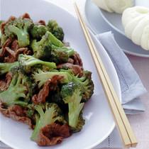ブロッコリーと牛薄切り肉の炒めもの