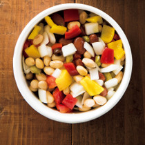 カラーピーマンと蒸し豆のマリネ