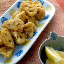 れんこんのカレー風味天ぷら