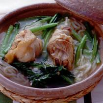 鶏肉と小松菜のにゅうめん