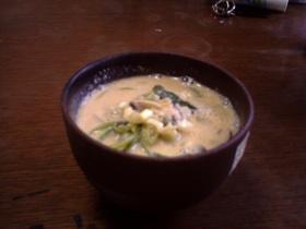 冬野菜の豆乳雑炊(*^^*)