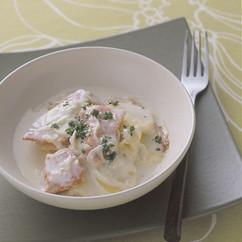 鮭とじゃがいものクリーム煮