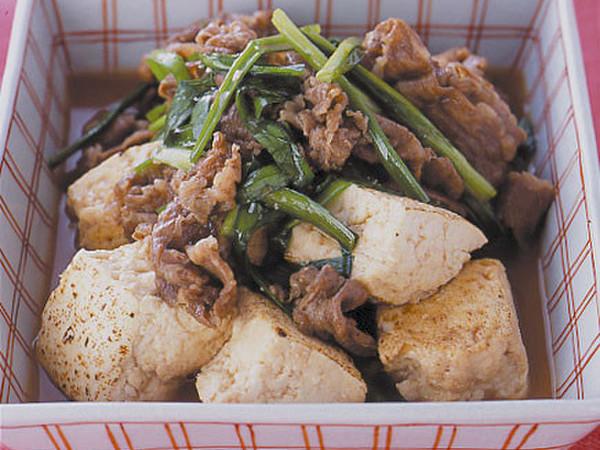 にら入り肉豆腐