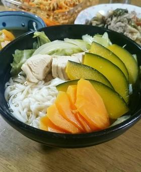 簡単☆糖質0麺で野菜たっぷり煮込みうどん