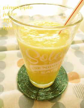 咳・喉の痛みに♡塩パイナップルジュース♡