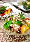 オイルサーディンとフェタチーズの夏サラダ