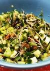 【糖質制限】夏野菜×チーズ×塩昆布で納豆