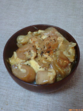 お麩の卵丼