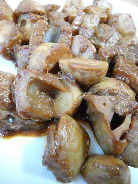 里芋とれんこんの中華炒め。