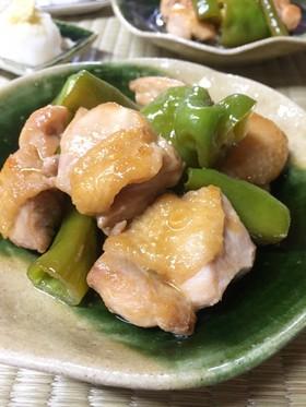 万願寺とうがらしと鶏肉のポン酢醤油炒め