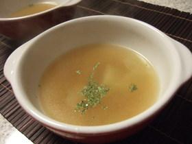 ブロッコリーの茎deコンソメスープ