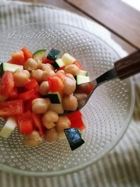お弁当にも♪ひよこ豆のマリネサラダ