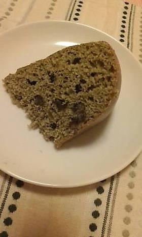 炊飯器で☆甘納豆入り抹茶ケーキ
