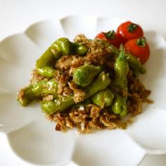 【簡単レシピ】しし唐とツナの鰹節炒め♪