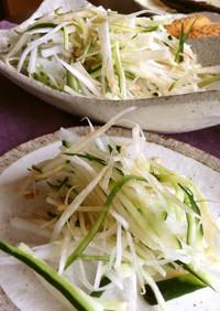 大根ときゅうりの塩昆布醤油サラダ