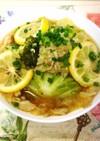 健康飯★豆腐と鶏胸ロールキャベツ檸檬霙煮