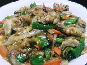 カキと野菜の味噌炒め