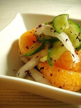みかん&白菜のゆかりサラダ