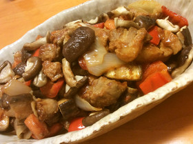 黒酢と生姜の効いた酢豚