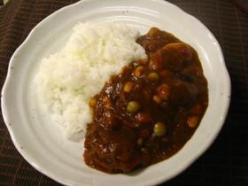 豆と牛スジのカレー