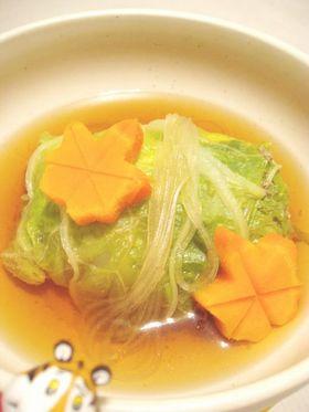 白菜で和風ロールキャベツ風