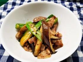オクラと茄子の豚肉でさっぱり炒め