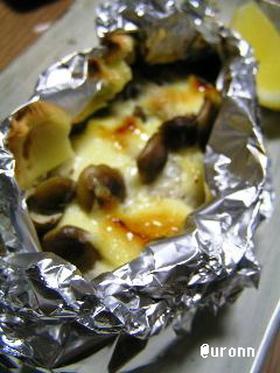 トースターで白身魚のマヨチーズホイル焼き