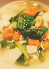 ☆野菜たっぷり☆ワンタンと押し麦のスープ