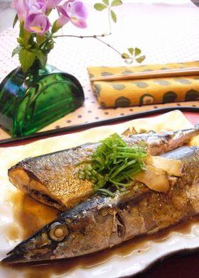 焼き秋刀魚の味噌煮
