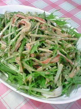 水菜&かにかまのオーロラソース■黒胡椒