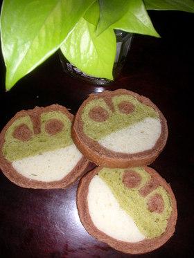 レンジパンで「カエルちゃん」トヨ型♪