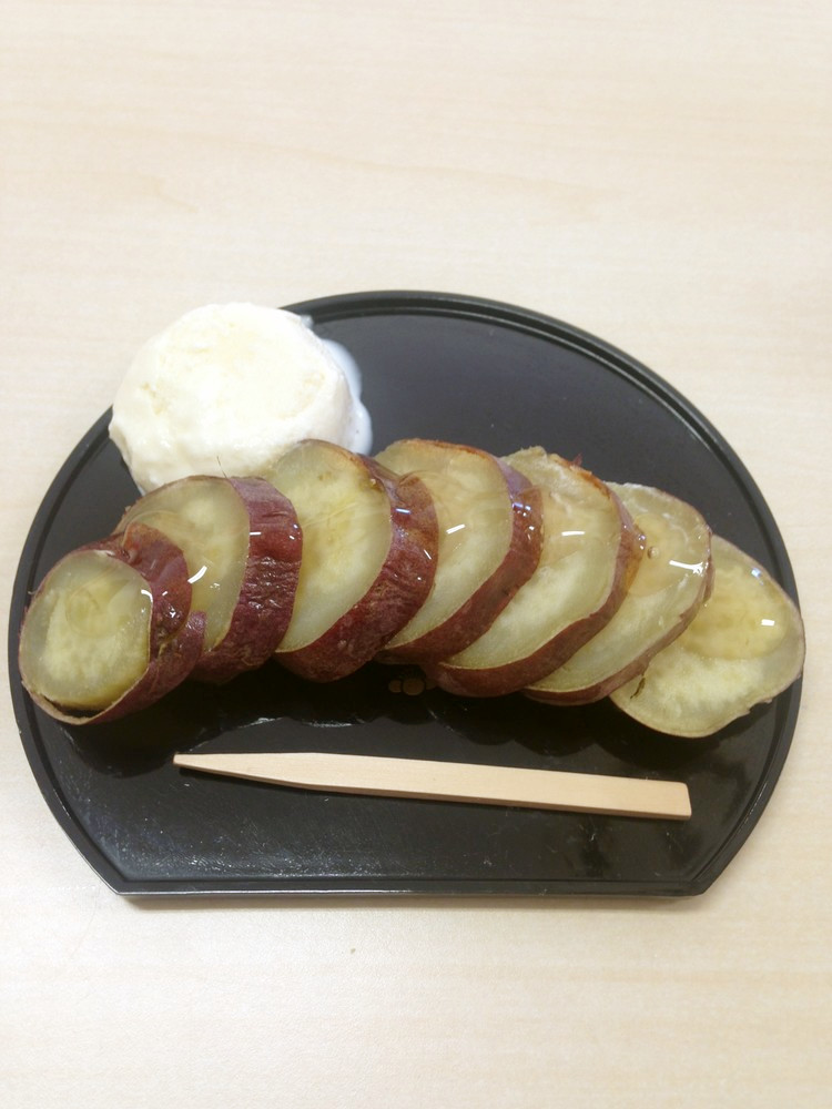 焼き芋のはちみつ+アイスのせ