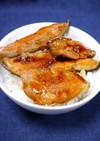 簡単!銀鮭丼(銀鮭蒲焼うな丼風)
