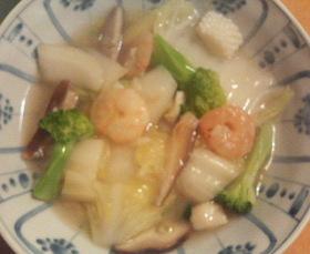 白菜とシーフードの炒め物