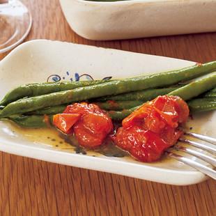 いんげんとミニトマトのオイル煮