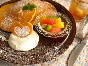 かぼちゃ入りホットケーキ