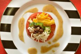 夏にぴったり♡トマトカップのサラダ