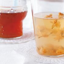 ジャスミン茶かん(写真右)