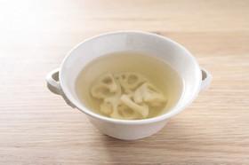 れんこんのコンソメスープ