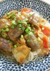 ナスとトマトの肉味噌素麺