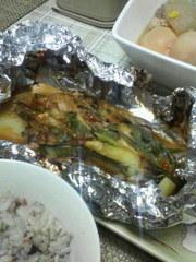 鮭のちゃんちゃん焼き風味噌マヨホイル蒸しの写真