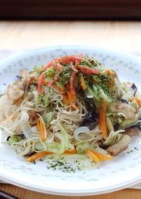 オイスターソースで☆野菜たっぷり焼き素麺