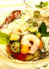 栄養満点!夏野菜のコンソメゼリー寄せ