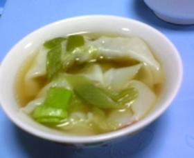 *超簡単*餃子スープ