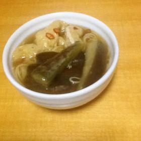とろとろ☆熱々煮込み素麺【ピリ辛】