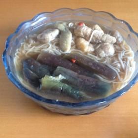 とろとろ★冷え冷え煮込み素麺【ピリ辛】