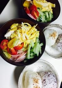 簡単彩素麺