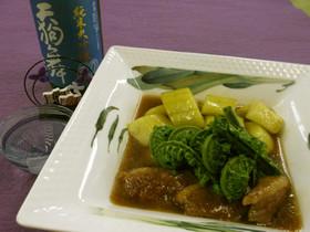 太胡瓜と鴨肉の炊き合わせ
